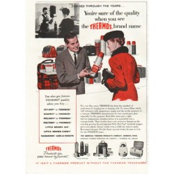 "1958 Thermos Ad ""You're sure of the quality"""
