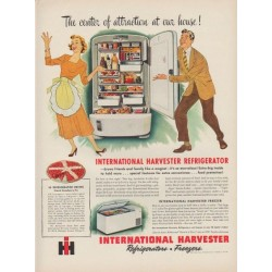 "1949 International Harvester Ad ""The center of attraction at our house!"""