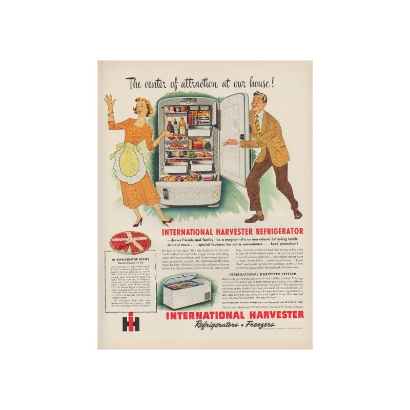 1949 international harvester ad the center of attraction for International home decor magazines