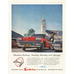 "1958 Pontiac Ad ""Pleasant Parking"" ~ (model year 1958)"