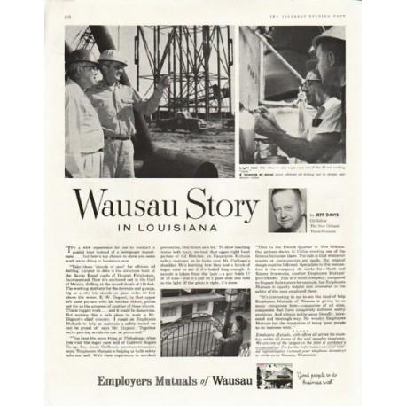 "1958 Employers Mutuals of Wausau Ad ""Wausau Story in Louisiana"""