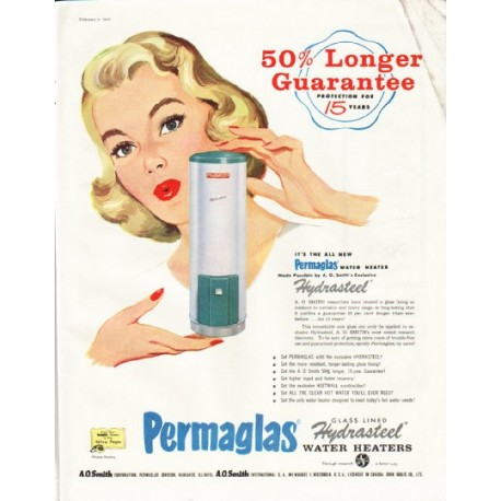 "1958 Permaglas Ad ""Protection for 15 years"""