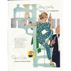 """1958 Pepsi-Cola Ad """"Sitting Pretty"""""""