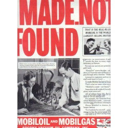 "1937 Mobiloil & Mobilgas Ad ""MADE.NOT FOUND"""