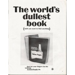 "1964 Yellow Pages Ad ""world's dullest book"""