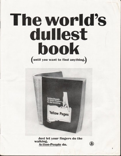 "1964 Yellow Pages Vintage Ad ""world's dullest book"""