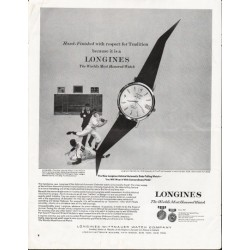 "1964 Longines-Wittnauer Watch Ad ""respect for Tradition"""