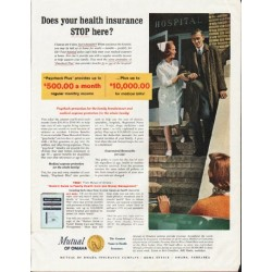 "1964 Mutual of Omaha Ad ""your health insurance"""