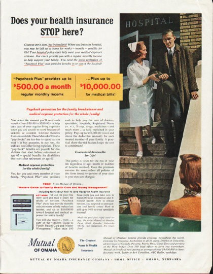 1964 Mutual Of Omaha Vintage Ad Quot Your Health Insurance Quot