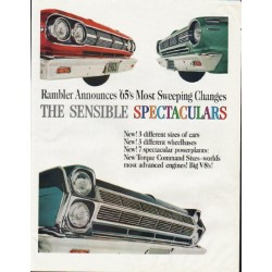 "1965 Rambler Ad ""Sensible Spectaculars"" ~ (model year 1965)"