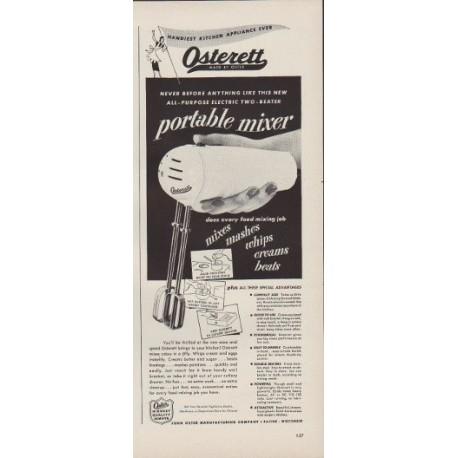 """1949 Osterett Ad """"portable mixer"""""""