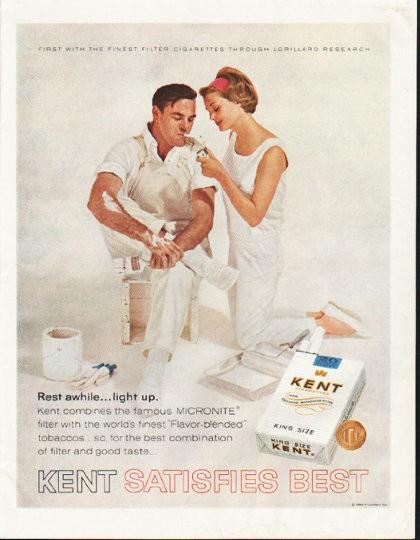 1964 Kent Cigarettes Vintage Ad Quot Rest Awhile Quot