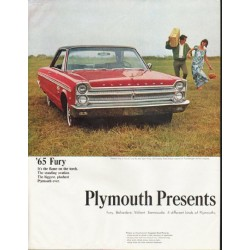 "1965 Plymouth Ad ""The Roaring '65s"" ~ (model year 1965)"