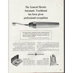 """1964 General Electric Toothbrush Ad """"professional recognition"""""""