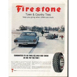"1964 Firestone Tires Ad ""Town & Country Tires"""