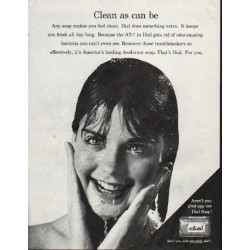 "1964 Dial Soap Ad ""Clean as can be"""