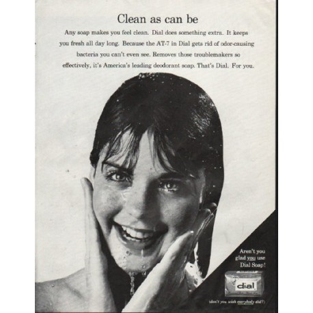 """1964 Dial Soap Ad """"Clean as can be"""""""