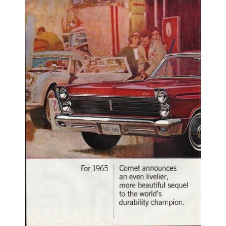 """1965 Mercury Comet Ad """"more beautiful"""" ~ (model year 1965)"""