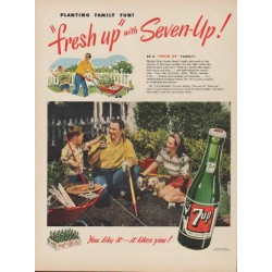 "1949 7-Up Ad """"fresh up"" with Seven-Up!"""