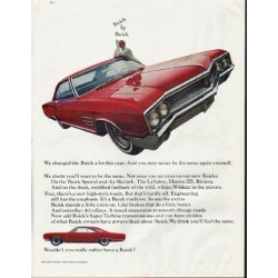 "1965 Buick Wildcat Ad ""We changed"" ~ (model year 1965)"