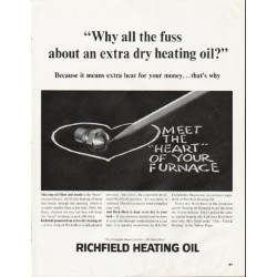 "1964 Richfield Heating Oil Ad ""Why all the fuss"""