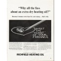 """1964 Richfield Heating Oil Ad """"Why all the fuss"""""""
