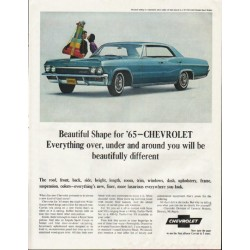 "1965 Chevrolet Impala Ad ""Beautiful Shape"" ~ (model year 1965)"