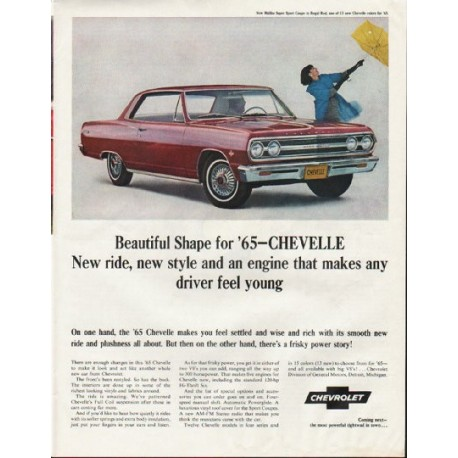 """1965 Chevrolet Chevelle Ad """"new style"""" ~ (model year 1965)"""