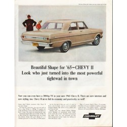 "1965 Chevrolet Nova Ad ""most powerful"" ~ (model year 1965)"