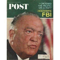 "1965 Saturday Evening Post Cover Page ""Hoover"" ~ September 25, 1965"