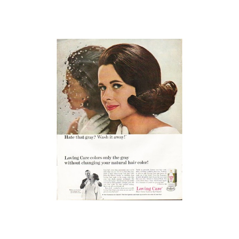 1965 Loving Care Hair Color Vintage Ad Hate That Gray