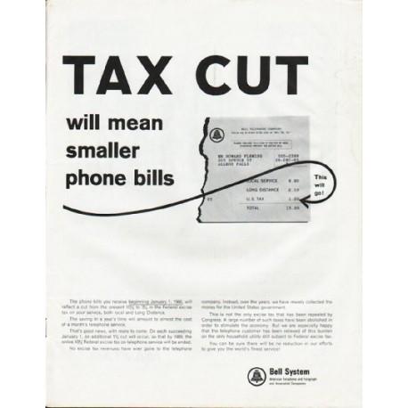 """1965 Bell System Ad """"Tax Cut"""""""