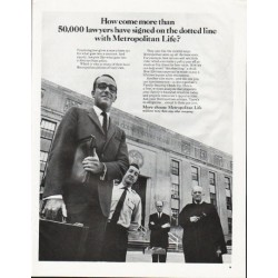 "1965 Metropolitan Life Insurance Ad ""50,000 lawyers"""