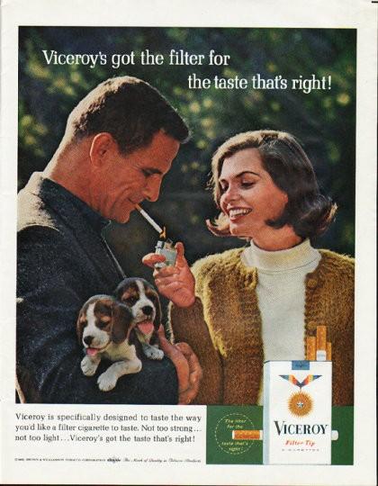 1965 Viceroy Cigarettes Vintage Ad Quot Taste That S Right Quot