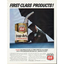 "1965 Phillips 66 Ad ""First-Class Products"""