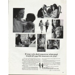 "1965 Alexander Hamilton Life Insurance Company Ad ""your wife"""