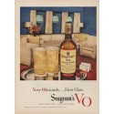 "1949 Seagram's V.O. Canadian Whisky Ad ""First Class"""