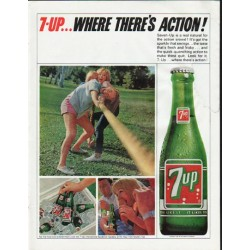 "1965 7-Up Ad ""Where There's Action"""