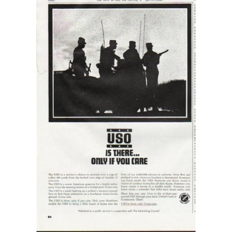 "1965 USO Ad ""Is There"""
