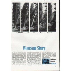 "1965 Employers Mutuals of Wausau Ad ""Timber"""