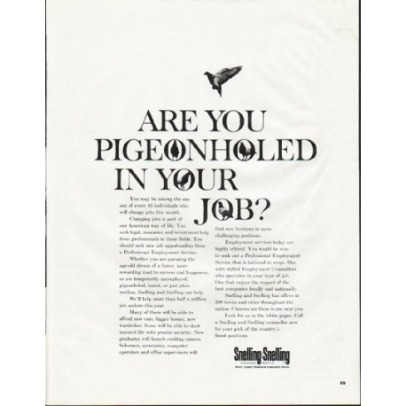 "1965 Snelling and Snelling Ad ""Pigeonholed"""