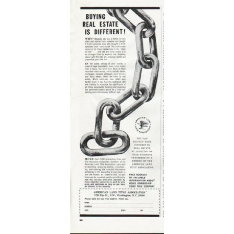 """1965 American Land Title Association Ad """"Buying Real Estate"""""""