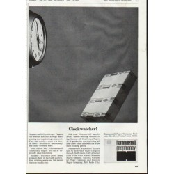 "1965 Hammermill Paper Company Ad ""Clockwatcher"""