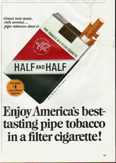 1965 Half And Half Cigarettes Vintage Ad Quot America S Best