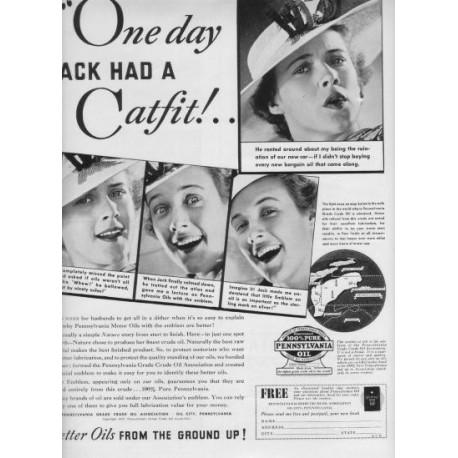 1937 Pennsylvania Grade Crude Oil Ad