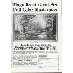 "1965 Great Art Ad ""Full Color Masterpiece"""