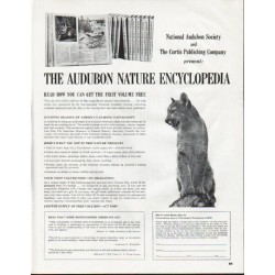 "1965 The Audubon Nature Encyclopedia Ad ""get the first volume free"""