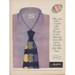 "1949 Manhattan Shirts Ad ""Easter Parade"""