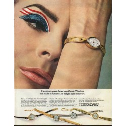 "1965 Hamilton Watch Ad ""American Classic Watches"""