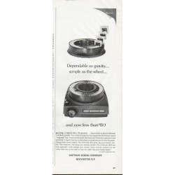 "1965 Eastman Kodak Company Ad ""Dependable as gravity"""